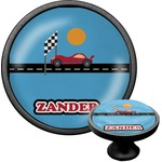 Race Car Cabinet Knob (Black) (Personalized)