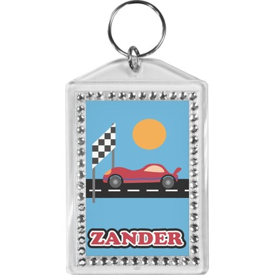 Race Car Bling Keychain (Personalized)