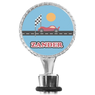 Race Car Wine Bottle Stopper (Personalized)