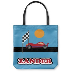 Race Car Canvas Tote Bag (Personalized)
