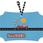 Race Car Rear View Mirror Ornament (Personalized)