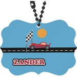 Race Car Rear View Mirror Charm (Personalized)