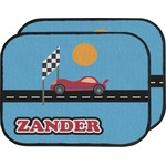 Race Car Car Floor Mats (Back Seat) (Personalized)