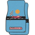 Race Car Car Floor Mats (Front Seat) (Personalized)