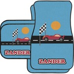 Race Car Car Floor Mats Set - 2 Front & 2 Back (Personalized)
