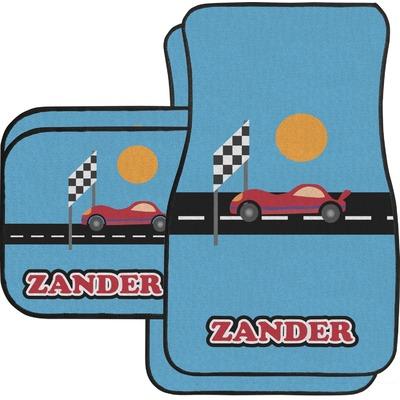 Race Car Car Floor Mats Set - 2 Front & 2 Back (Personalized)