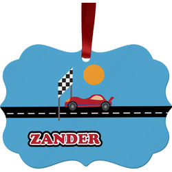 Race Car Ornament (Personalized)