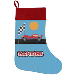 Race Car Holiday Stocking w/ Name or Text
