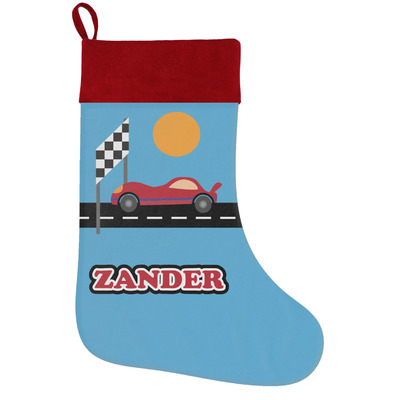 Race Car Holiday / Christmas Stocking (Personalized)