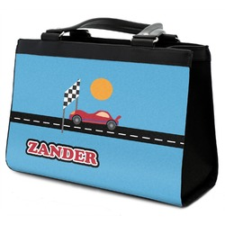 Race Car Classic Tote Purse w/ Leather Trim (Personalized)