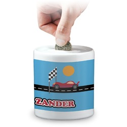 Race Car Coin Bank (Personalized)