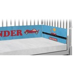 Race Car Crib Bumper Pads (Personalized)