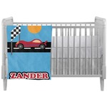 Race Car Crib Comforter / Quilt (Personalized)