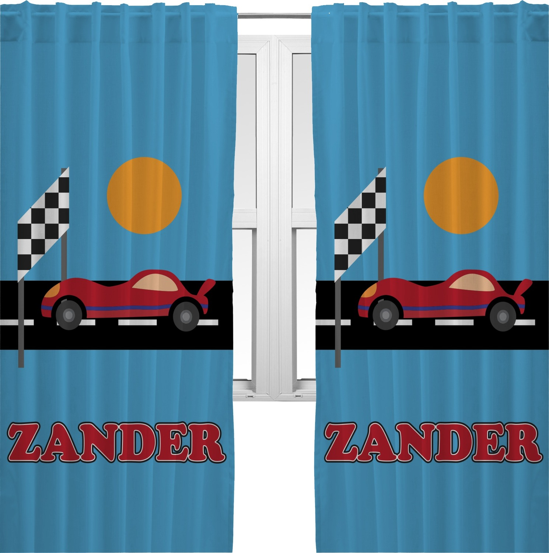 Race Car Curtains 2 Panels Per Set Personalized