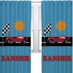 Race Car Curtains (2 Panels Per Set) (Personalized)