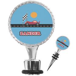 Race Car Wine Bottle Stopper (Personalized)