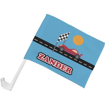 Race Car Car Flag (Personalized)