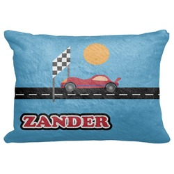 "Race Car Decorative Baby Pillowcase - 16""x12"" (Personalized)"