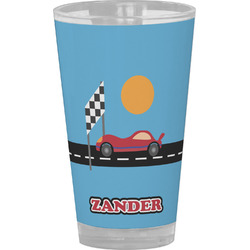 Race Car Drinking / Pint Glass (Personalized)