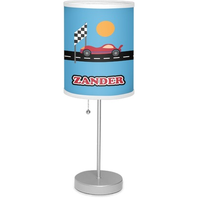 """Race Car 7"""" Drum Lamp with Shade (Personalized)"""