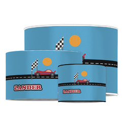 Race Car Drum Lamp Shade (Personalized)