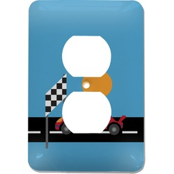 Race Car Electric Outlet Plate (Personalized)