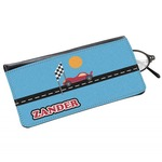 Race Car Genuine Leather Eyeglass Case (Personalized)
