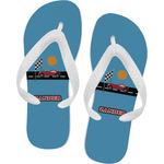 Race Car Flip Flops (Personalized)