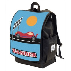 Race Car Backpack w/ Front Flap  (Personalized)