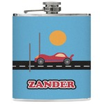 Race Car Genuine Leather Flask (Personalized)