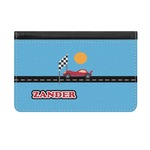 Race Car Genuine Leather ID & Card Wallet - Slim Style (Personalized)