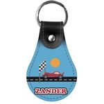 Race Car Genuine Leather  Keychains (Personalized)