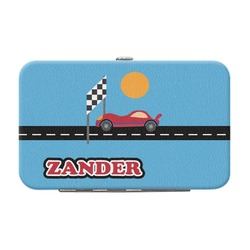 Race Car Genuine Leather Small Framed Wallet (Personalized)