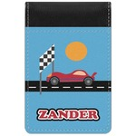 Race Car Genuine Leather Small Memo Pad (Personalized)
