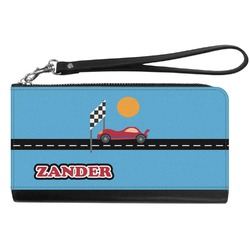 Race Car Genuine Leather Smartphone Wrist Wallet (Personalized)