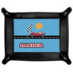 Race Car Genuine Leather Valet Tray (Personalized)