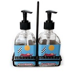 Race Car Soap & Lotion Dispenser Set (Glass) (Personalized)