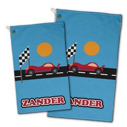 Race Car Golf Towel - Full Print w/ Name or Text
