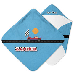 Race Car Hooded Baby Towel (Personalized)