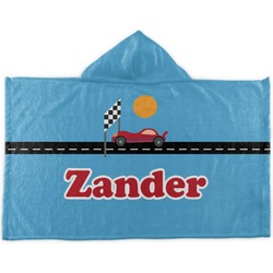 Race Car Kids Hooded Towel (Personalized)
