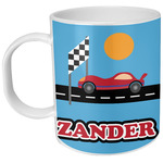Race Car Plastic Kids Mug (Personalized)