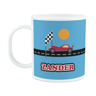 Race Car Plastic Kids Mug (Personalized)