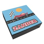 Race Car Leatherette Keepsake Box - 3 Sizes (Personalized)