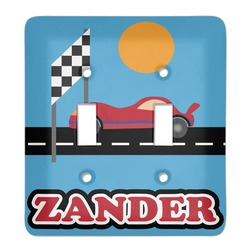 Race Car Light Switch Cover (2 Toggle Plate) (Personalized)