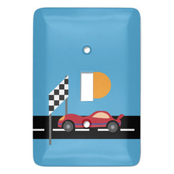 Race Car Light Switch Cover (Single Toggle) (Personalized)