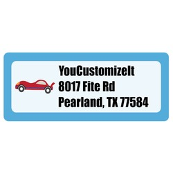 Race Car Return Address Labels (Personalized)