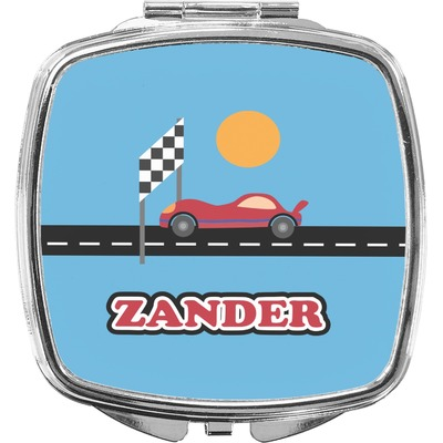 Race Car Compact Makeup Mirror (Personalized)