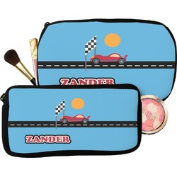 Race Car Makeup / Cosmetic Bag (Personalized)