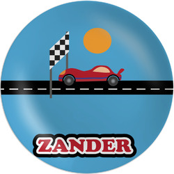 "Race Car Melamine Plate - 8"" (Personalized)"