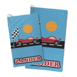 Race Car Microfiber Golf Towel (Personalized)